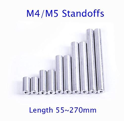 Hockus Accessories M4/M5 Aluminum Standoffs Column Pilar Spacer Length 55/60/70/80/90/100/174/180/224/270mm - (Color: 10pcs M5x70mm)