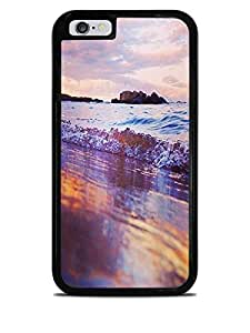 Beautiful Beach Scene Print Black 2-in-1 Protective Case for iPhone 6 (4.7)