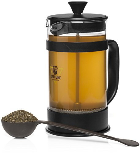Caffeine Spree IncrediBrew French Press Coffee, Tea & Espresso Maker Kit With: Stainless Steel ...
