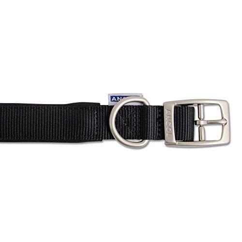 Ancol Padded Nylon Collar Black 45-54cm Size 6