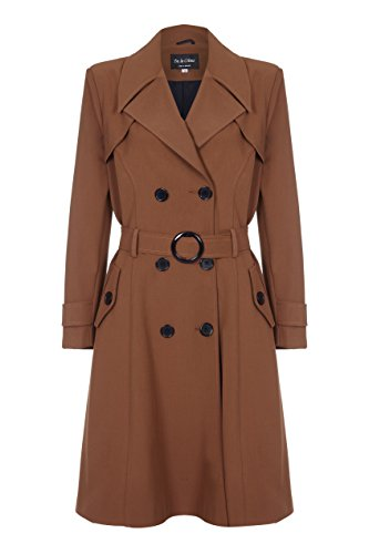 De La Creme - Brown Womens Spring Belted Trench Coat Size 6