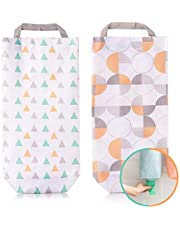 Plastic Bag Holders Waterproof, Wall Mount Hanging Grocery Dispenser Garbage Bag Organizer, Shopping Bag Holder for Home Kitchen Office 2 Pack
