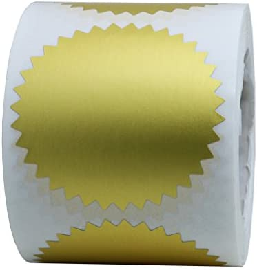 50 self-adhesive seals stamping labels Gold Color \u00d8 56 mm-for embossing pliers
