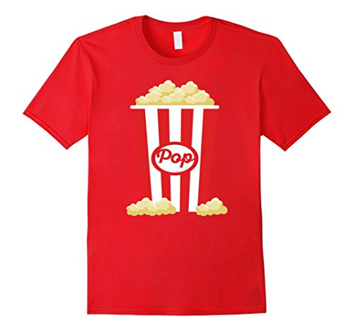 [Men's Popcorn - Funny Last Minute Halloween Costume T-Shirt XL Red] (Mens Halloween Costume Ideas Last Minutes)