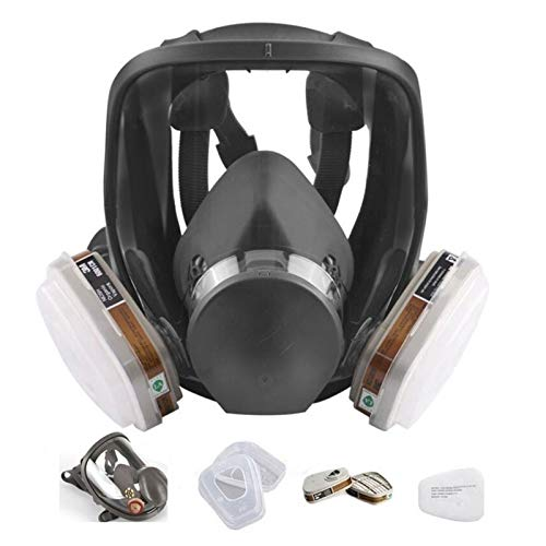 15in1 Full Face Respirator,Full Face Wide Field of View,Widely Used in Organic Gas,Paint spary, Chemical,Woodworking(for 6800 Respirator)