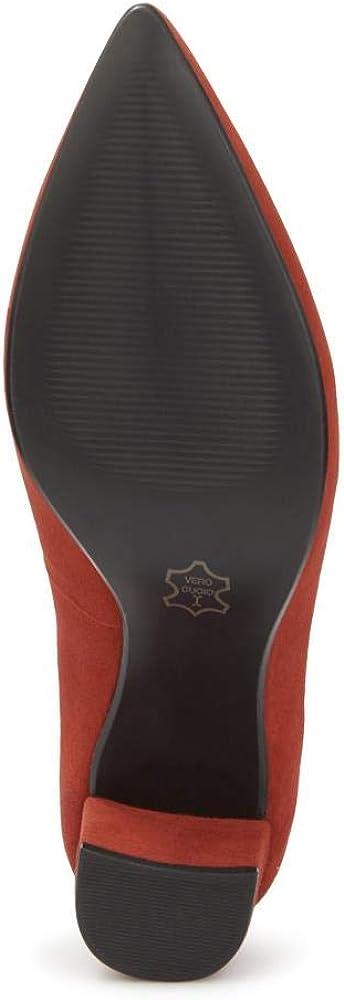 Pavers Damen Leder Loafer Schuhe Blockabsatz Quasten Smart Burgund Croc