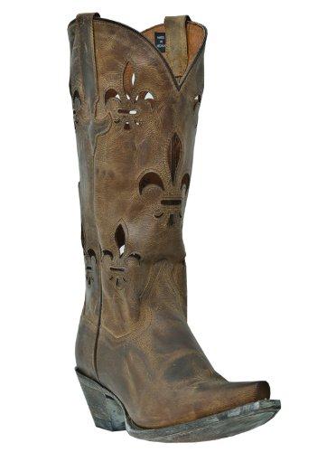 Dan Post Women's Steel Toe West Boot,Tan Mad Cat,6 B (M) US