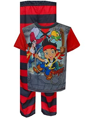 Jake And The Neverland Pirates Shipwreck Beach Toddler Pajamas for Little Boys