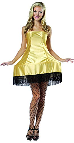 Rasta Imposta A Christmas Story Leg Lamp Dress Costume, Gold, One Size -
