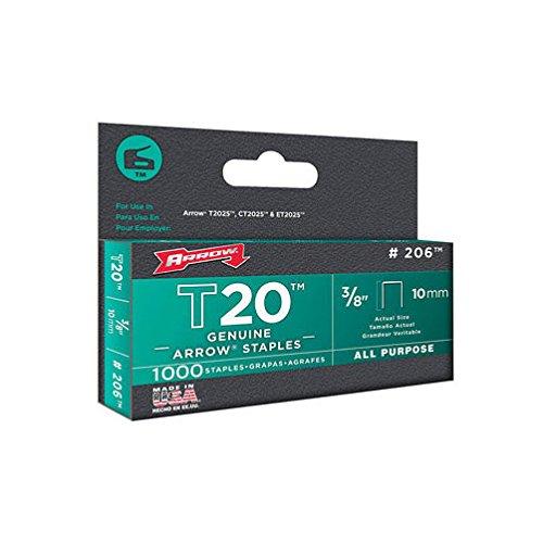 Arrow Fastener 206 3/8'' T20 Staples by Arrow Fastener