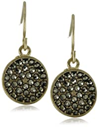 Kenneth Cole New York Gold Disc Pave Drop Earrings
