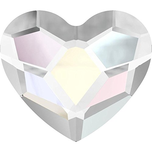 2808 Swarovski Nail Art Gems & Flatback Crystal Shapes Heart 14mm | Crystal | 14mm - Pack of 2 | Small & Wholesale Packs