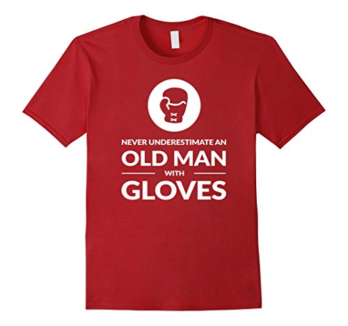 - Mens Funny Boxing Boxer Old Man T Shirt Gift XL Cranberry