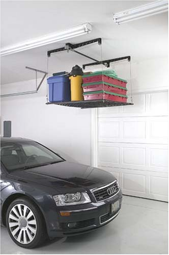 Racor PHL-1R Pro HeavyLift 4-by-4-Foot Cable-Lifted Storage Rack