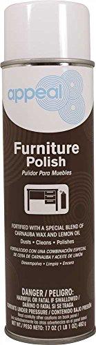 Appeal APP12733 Furniture Polish Lemon Scent 20 oz 12 per Case White / Appeal APP12733 Furniture Polish Lemon Scent 20 oz 12 per Case White