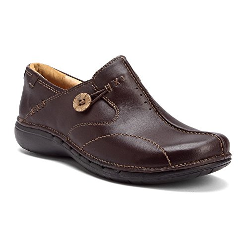 Clarks Unstructured Women's Un.Loop Slip-On,Brown Leather...