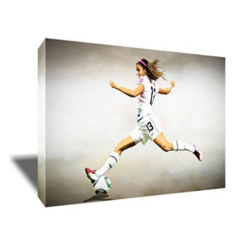 Soccer Star ALEX MORGAN Painting Poster Artwork on CANVAS ART Print (20x30 inches) by ARTwrench