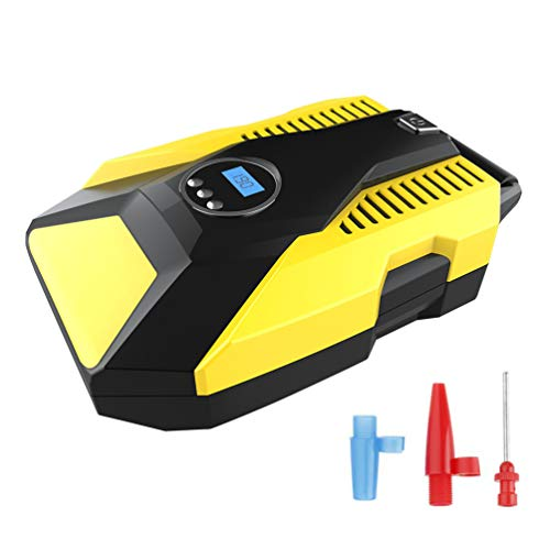 Car Tyre Pump, Intelligent Digital ABS Air Pump Tool with LED Light for Swimming Ring Basketball Toy Car Bicycle: Amazon.co.uk: Welcome