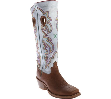 fe7c34a7a74 Twisted X Western Boot Men Buckaroo Square 9.5 D Cognac White ...