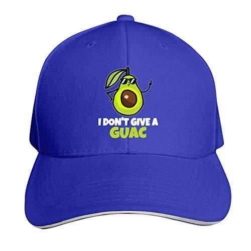 NNaseg Adjustable Peaked Cap,Funny Avocado I Don't Give A Guac Funny Print Denim Snapback Hat for Women/Men Unisex Adult -