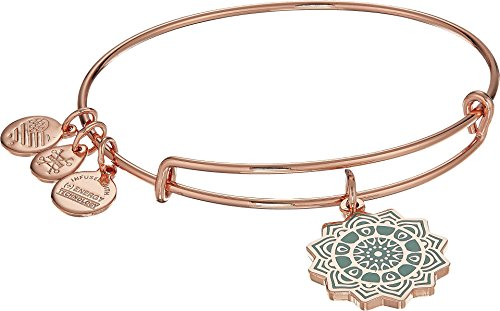 hakra Charm Bangle Bracelet - Shiny Rose Gold Finish ()