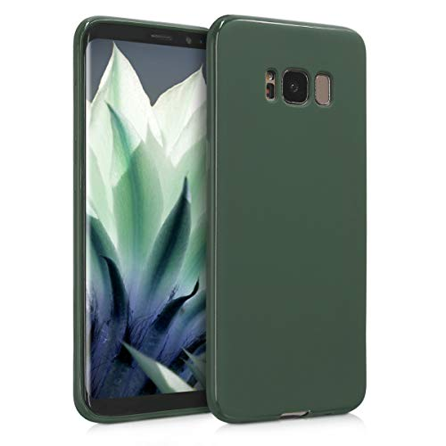 kwmobile TPU Case for Samsung Galaxy S8 - Soft Flexible Shock Absorbent Protective Phone Cover - Dark Green Matte
