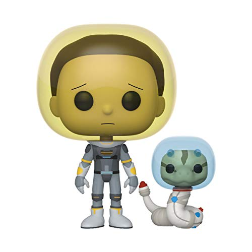 Funko- Pop Animation Rick & Morty-Space Suit Morty w/Snake Rick and Collectible Toy, Multicolor (45435)