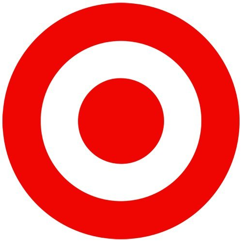 Set of 3 - Bulls-Eye Target Decal Sticker Color: red, Peel and Stick Vinyl -