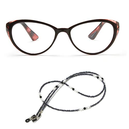 MIDI Cat Eye Vintage Reading Glasses for Women (M-103) Designed in Japan/Fine Spring Hinge for Comfort fit/with Eyeglass Holder Strap Cord and Soft case (+2.00, Red) (m103c2200) from MIDI ミディ