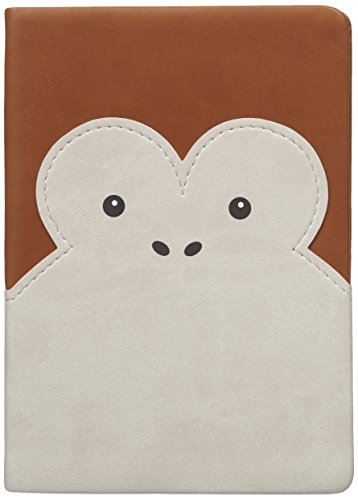 Pals Monkey (Distinct Daycraft PU LEATHER Animal Pals Notebook – Monkey, LINED, Inside Pocket - 6