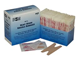 Pac-Kit by First Aid Only 1-900 Woven Knuckle Bandage (Box of 100)