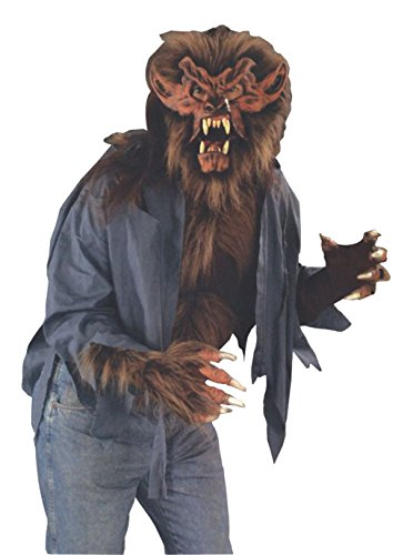 Lone Wolf Mask (Zagone Wolf Shirt, Torn shirt with Brown Faux Animal Fur)