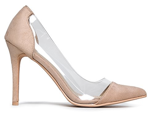 Transparent Heels Comfortable Pointed Clear Toe J D'orsay Adams � Pumps Slip � Formal Nude High France Elegant Wedding Stiletto Suede On Shoes Dress by Cap q7ww0E56