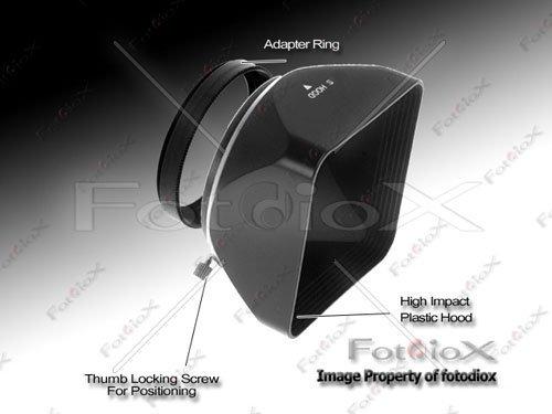 Fotodiox Video / Medium Format Camera Lens Hood, Sun Shade, 67mm Black