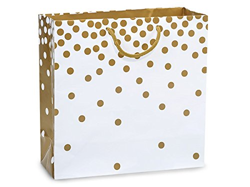 Gold Dots Gloss Filly Laminated 100 12x5x12'' Gift Bags (Unit Pack - 100) by Better crafts