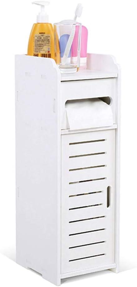 armadietto per Il corridoio Bianco EBTOOLS Armadietto per Il Bagno mobiletto Alto da Bagno armadietto pensile in Legno con 1 vano apribile e 1 Ante
