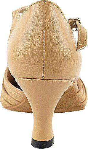 Scarpe Donna Ballo Tango Scarpe Salsa Di Nozze 6829beb Confortevole-finissima 2.5 [fascio Di 5] Pelle Beige Marrone