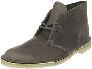 Clarks Men's Desert Boot,Grey Leather,8 M US (B0040FON86) | Amazon price tracker / tracking, Amazon price history charts, Amazon price watches, Amazon price drop alerts