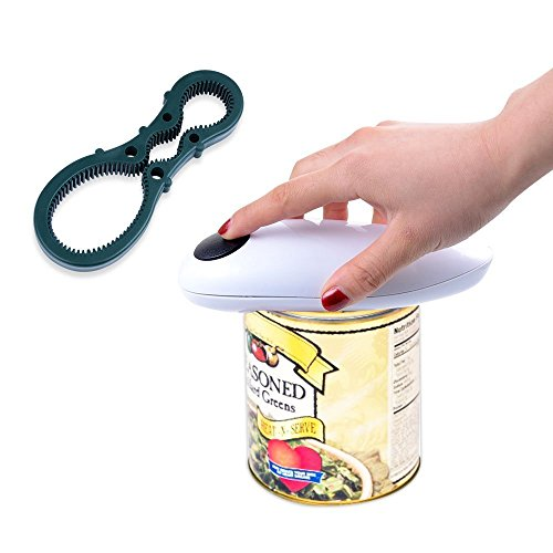 Electric Can Opener, Automatic One Touch Smooth Edge Jar Opener for Kitchen Restaurant
