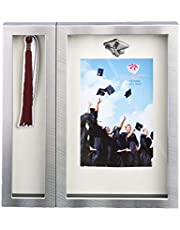 FASHIONCRAFT 12500 Graduation Tassel Picture Frame, Silver