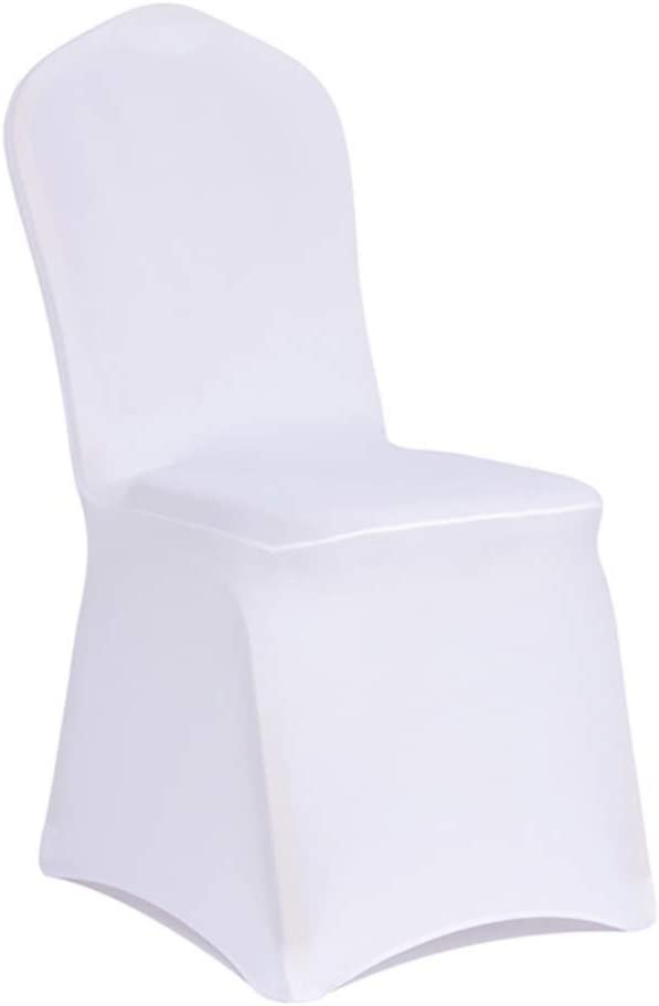WENSINL Set of 50pcs White Stretch Spandex Chair Covers for Banquet Wedding Party Dining Decoration (50): Kitchen & Dining