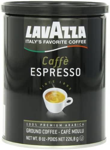 Lavazza Caffe Espresso - Medium Ground Coffee, 8-Ounce Cans (Pack of 4)