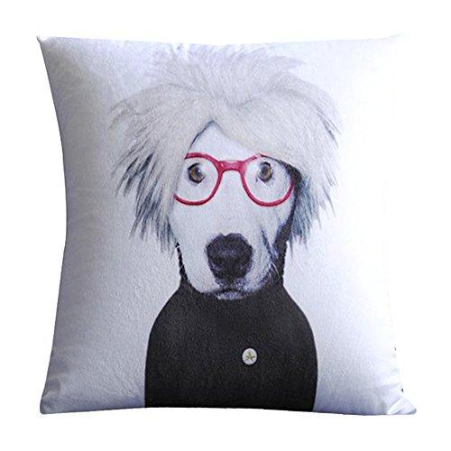 Nava White Andy Warhol Dog Pop Art Artist Decorative Pillow Case Cushion Cover Sham