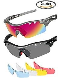 Sports Sunglasses 2 Pairs Polarized Sports Sunglasses...