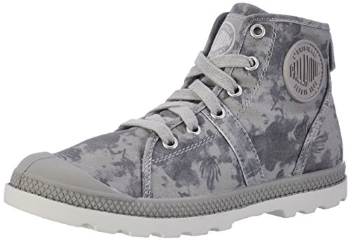 Palladium Pallabrouse Mid Lp, Zapatillas para Mujer Gris (Elephant Skin/silver Gray/floral Print)