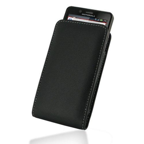 PDAIR VX1 Black Leather Case for Motorola Droid Bionic XT875