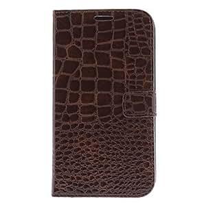 WEV Alligator Pattern PU Leather Full Body Case for Samsung Galaxy Mega 6.3 I9200 (Assorted Colors) , Black