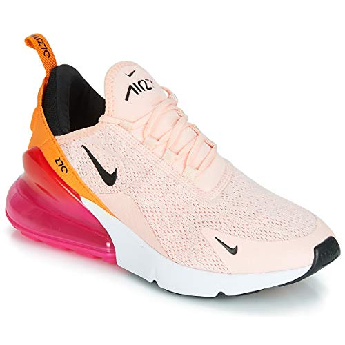 Nike W Air Max 270 Womens Sneakers AH6789-603, Washed Coral/Black-Laser Fuchsia, Size US 10