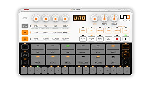 IK Multimedia UNO Drum Portable Analog/PCM Drum Machine (IP-UNO-DRUM-IN)