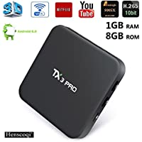 Henscoqi TX3 Pro Smart TV Box Amlogic S905X Android 6.0 Marshmallow TV Box 1G/8G Smart Set Top Box